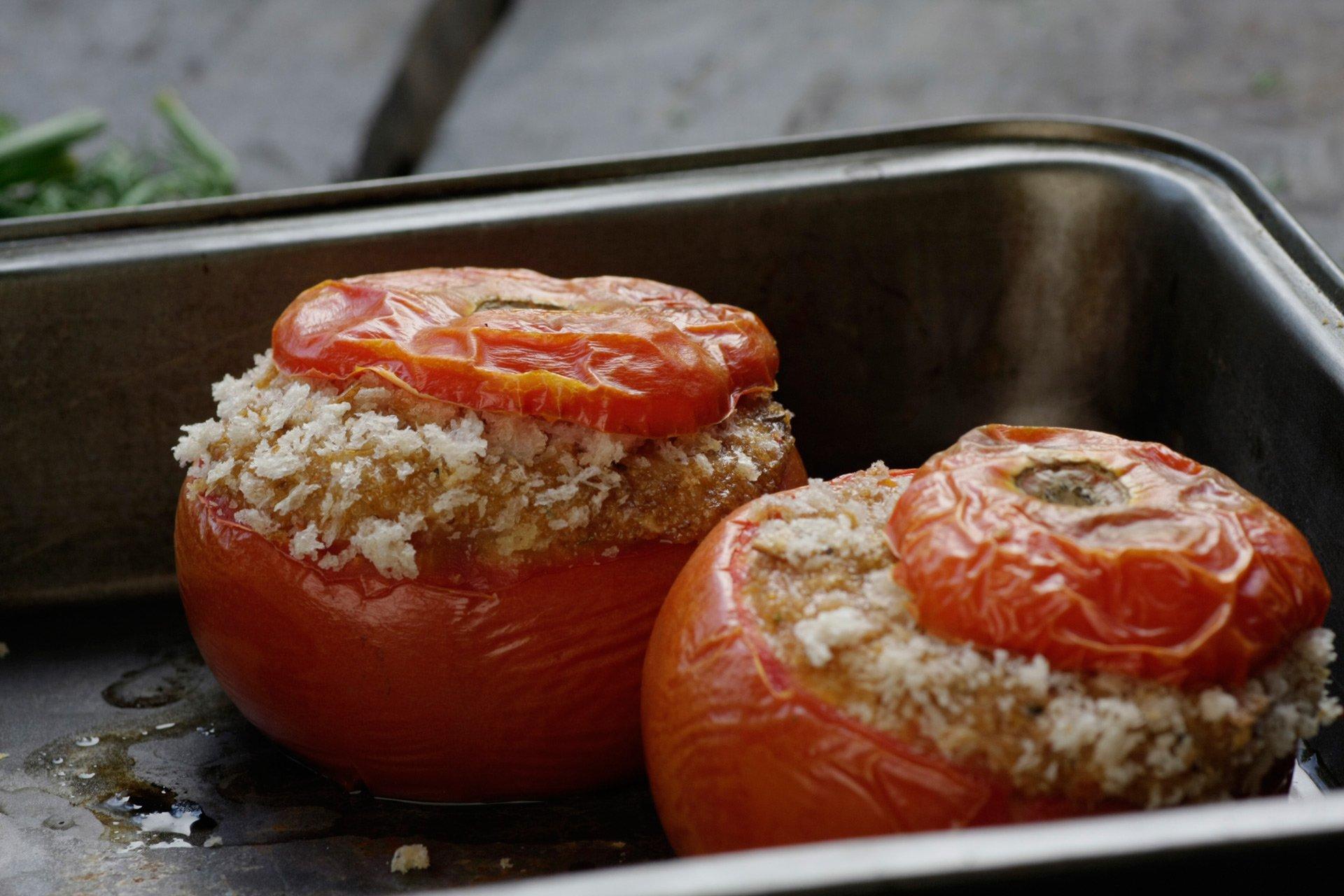 Amaranth Stuffed Tomatoes