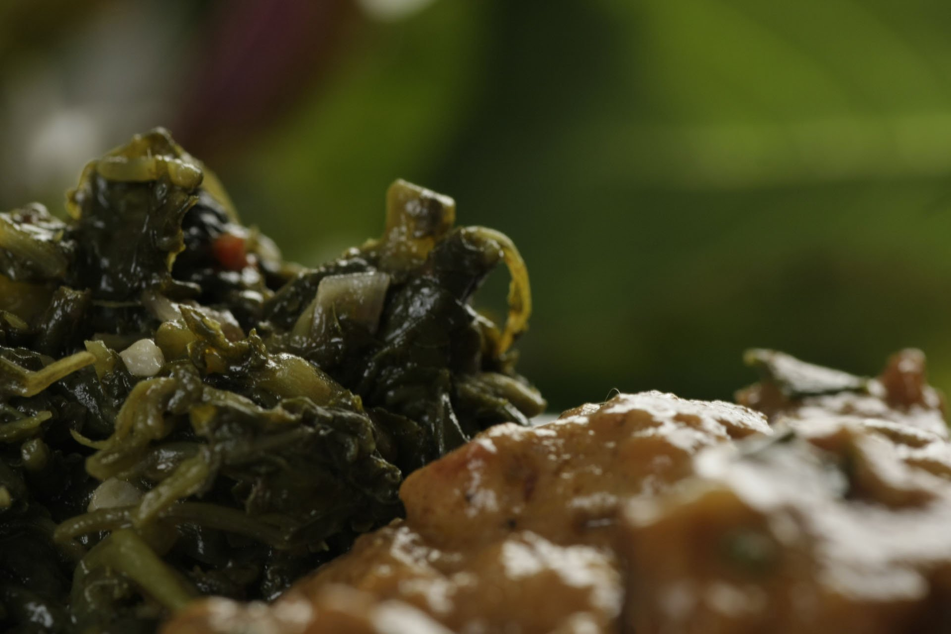 Amaranth Leaves With Marula Nut Butter