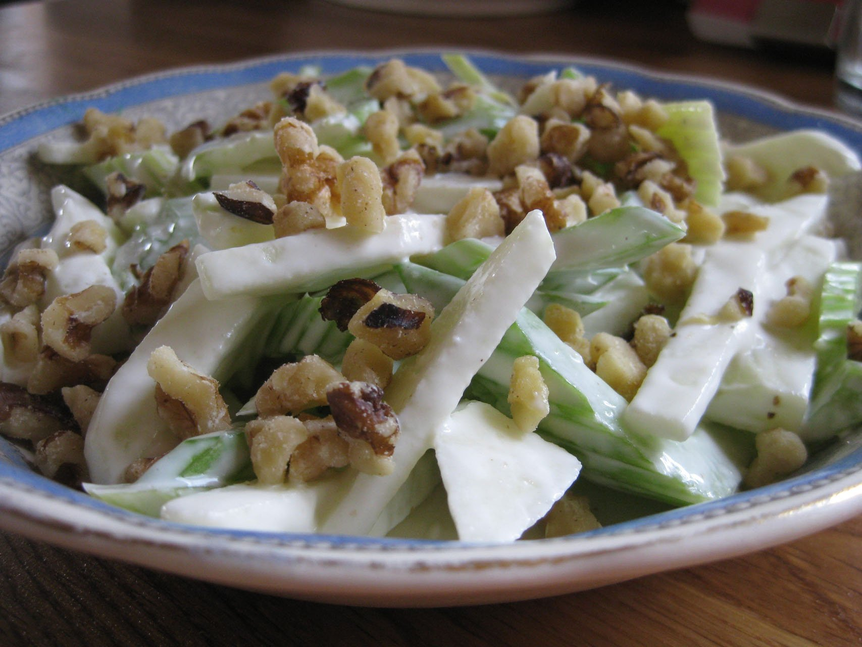 Waldorf salad, with Mongongo nuts